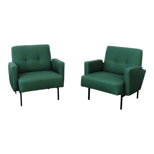 Pair of Italian Modern Club Chairs - Image 1 of 5