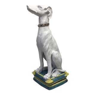 Italian Terra-Cotta Whippet, Large For Sale