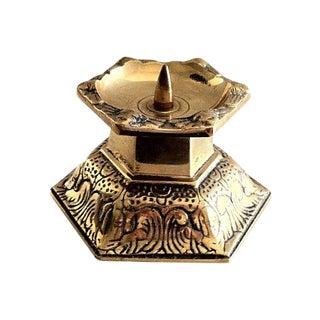 Gustavian Brass Candleholder