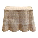 Image of Scalloped Wicker Console Table For Sale
