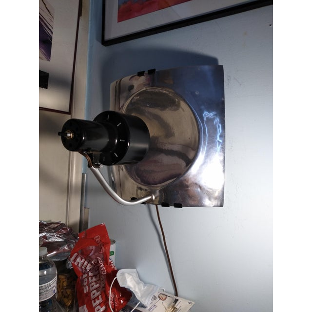 1970s Vintage Mid Century Style Reflector Wall/Ceiling Light For Sale - Image 4 of 12