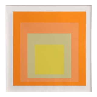 "Josef Albers, ""Interaction of Color: Homage to the Square, Exhibition at Goethe House"", Screenprint For Sale"