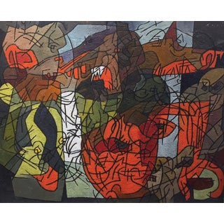 Stanley Bate, Untitled Painting, Circa 1950 For Sale