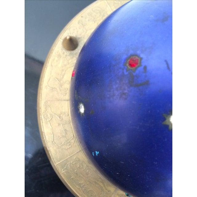 Blue Zodiac Globe Pop-Up Cigarette Holder For Sale - Image 7 of 8