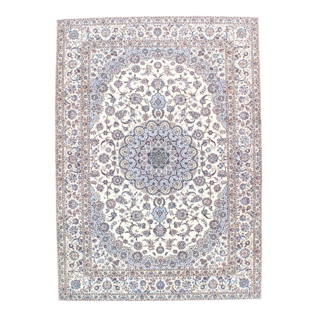 """Pasargad N Y Persian Nain 6-Lines Hand-Knotted Lamb's Wool & Silk Rug - 8'2"""" X 11'6"""" For Sale"""