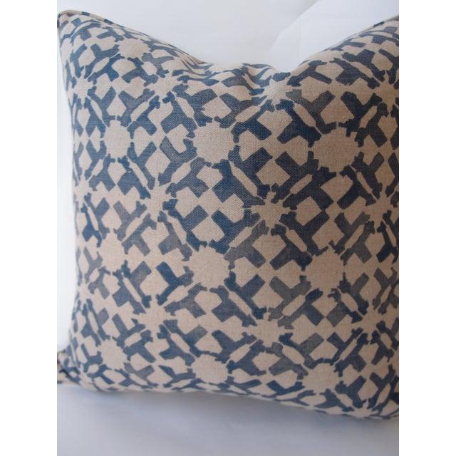 Peter Dunham Indigo Pillow For Sale - Image 4 of 4