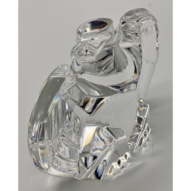 Transparent Vintage Steuben Glass Lloyd Atkins Crystal Decorative Eagle For Sale - Image 8 of 13