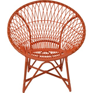 David Francis Modern Indoor/Outdoor Orange Lounge Chair For Sale