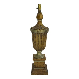 1950's Italian Wooden Table Lamp For Sale