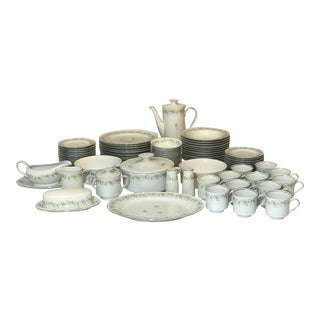 1970s Forever Spring Fine China Set by Johann Haviland - Set of 82 Pieces For Sale