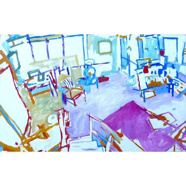 The Artist's Studio (Oil Painting) For Sale - Image 9 of 9