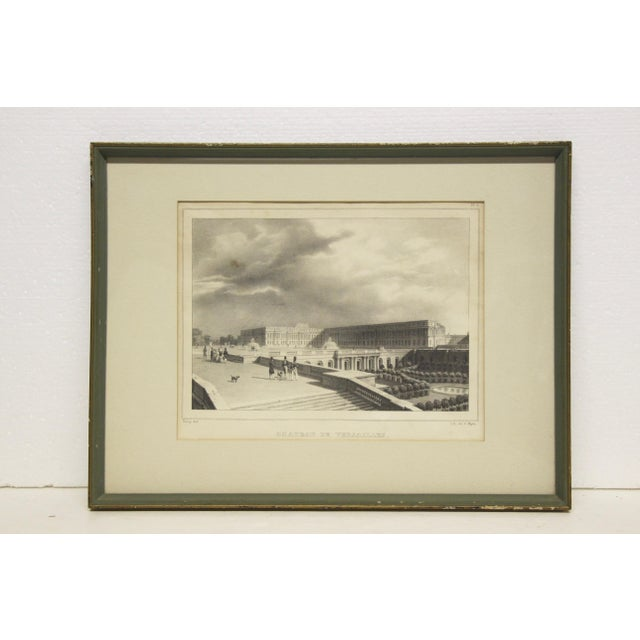 Wood Framed Versailles Lithograph Print For Sale - Image 7 of 7