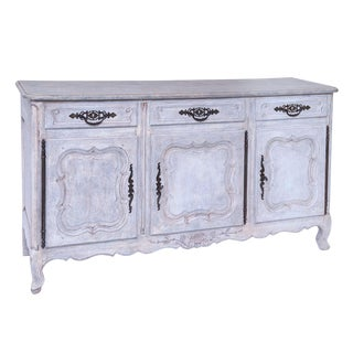 19th Century Louis XV French Painted Enfilade For Sale