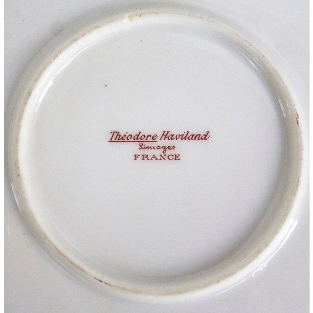Theodore Haviland 1960s Theodore Haviland Limoges France Porcelain Handled Tray For Sale - Image 4 of 6