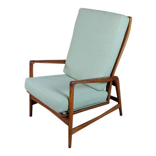 1960s Vintage Mid-Century Modern Danish Reclining Lounge Chair For Sale