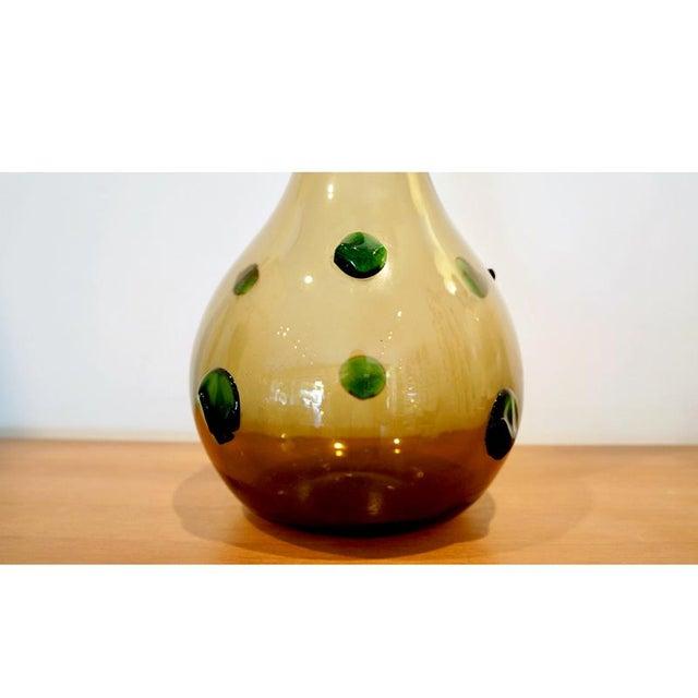 1960s 1960s Empoli Glass Vase For Sale - Image 5 of 6