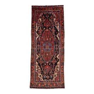 Vintage Persian Nahavand Rug - 4'5'' X 11'2'' For Sale
