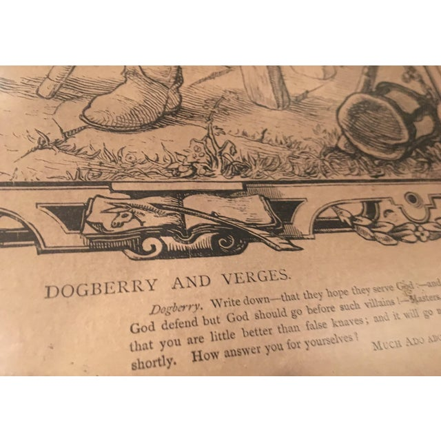 Wood Mid-1800s English Engraving by William Luson Thomas, of Shakespeare's Dogberry and Verges, Framed For Sale - Image 7 of 13