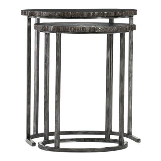 Kenneth Ludwig Organic Painted Nesting Tables - Set of 2 For Sale