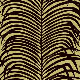Schumacher Zebra Palm Wallpaper in Java For Sale