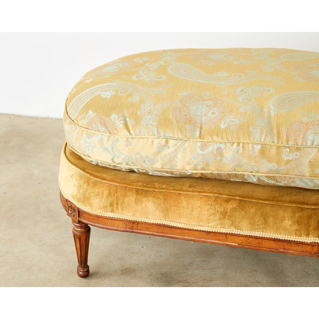 Early 20th Century French Louis XVI Style Chaise Longue Daybed For Sale - Image 5 of 13