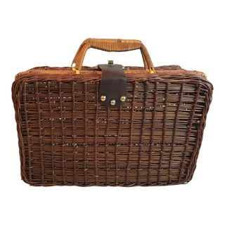 Vintage Wicker Luggage For Sale