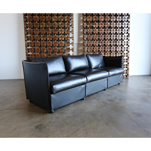 Leather Landeau Sofa by Mario Bellini for Cassina