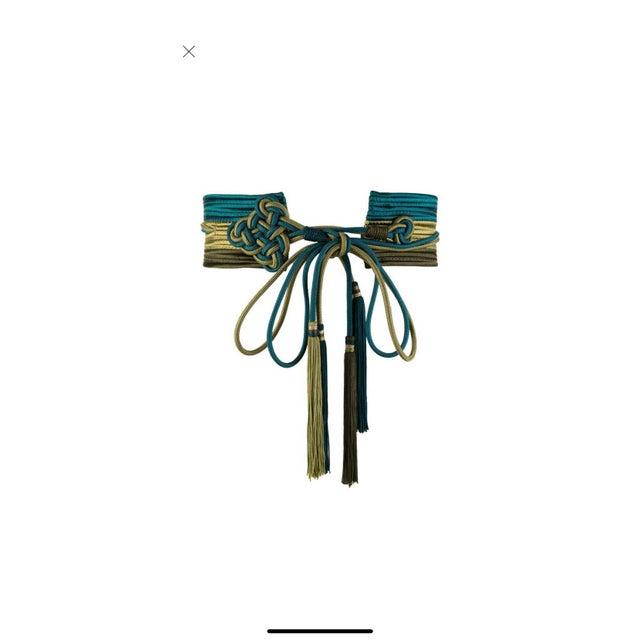 Vintage Yves Saint Laurent Russian Collection Passementerie Tassel Belt Ysl For Sale - Image 10 of 12