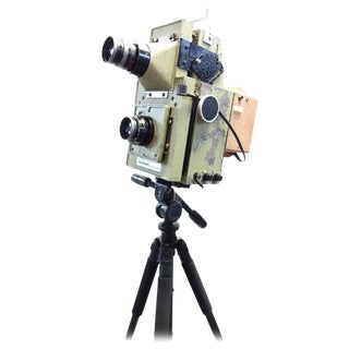 Vintage School Class Picture Roll Film Camera. Circa Mid Century. Display as Sculpture. Reduce: Was: $2999.00 Now: 799.00 For Sale