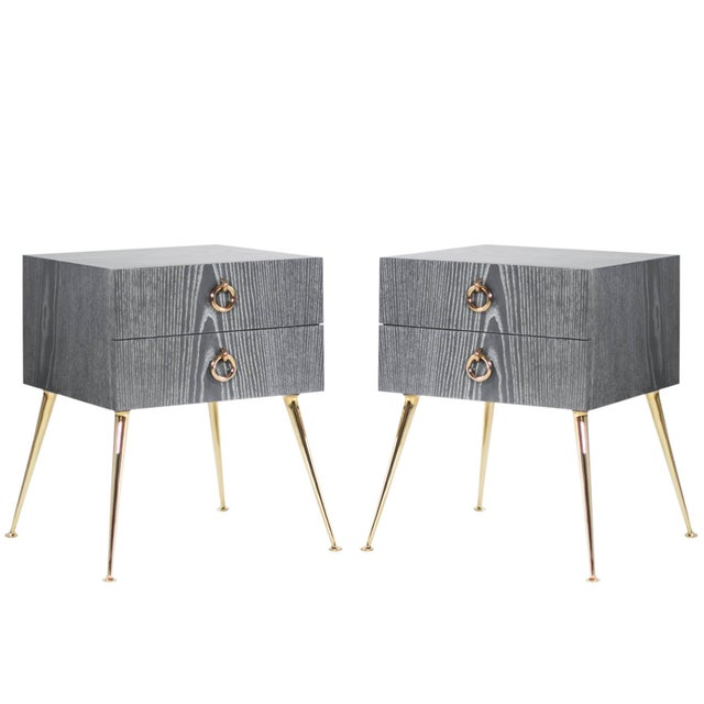 Gibby Collection End Tables in Limed Oak For Sale - Image 11 of 11