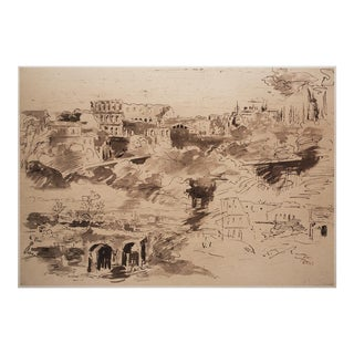1959 Lithograph After Sketches of the Colosseum by Corot