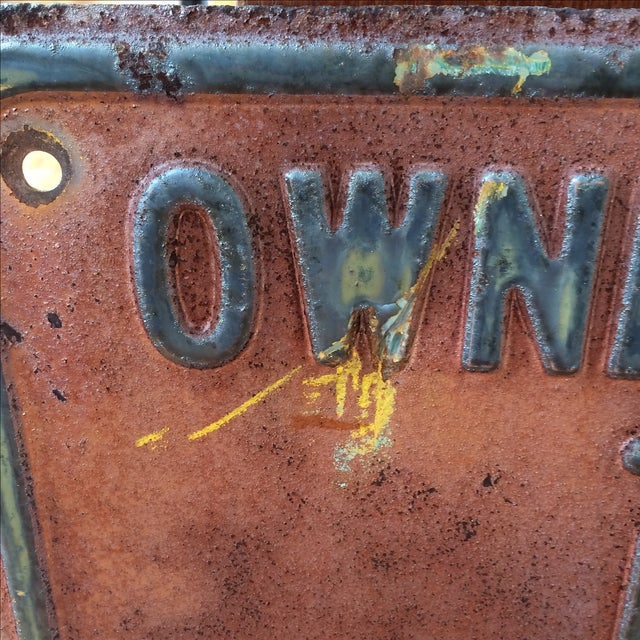 Vintage Private Driveway Sign - Image 6 of 6