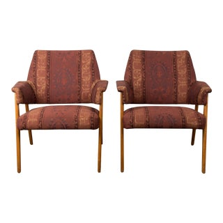 1960s Vintage Ib Kofod Larsen for Ope Mobler Lounge Chairs For Sale