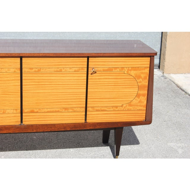 1940s French Art Deco Mahogany Sideboard For Sale - Image 11 of 13