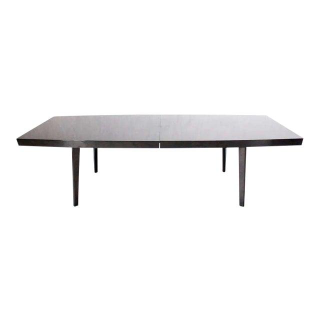 Fine MidCentury Modern Dunbar Dining Or Conference Table With Three - Conference table with leaves