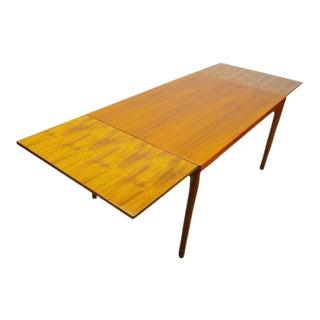Vejle Stole Mid Century Danish Modern Teak Expanding Slide Leaf Dining Table
