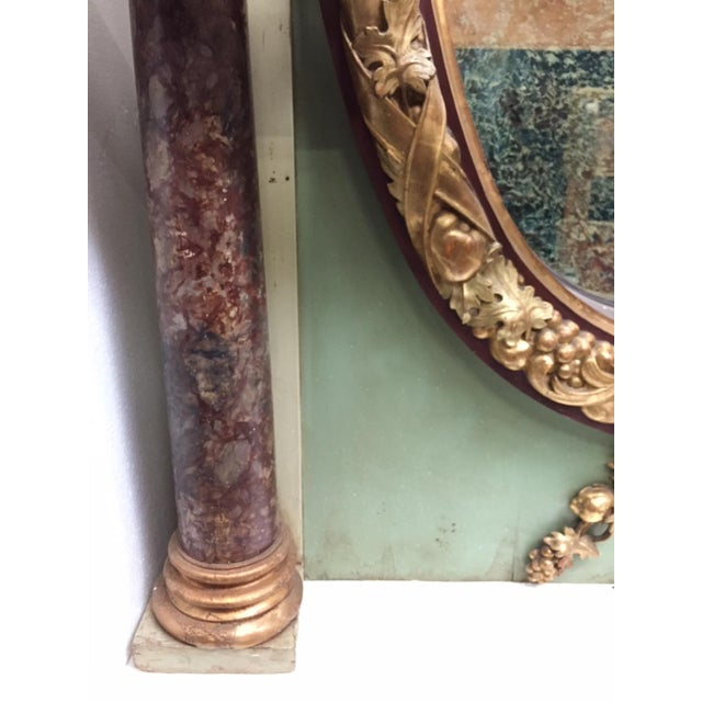 Gold Italian Painted Over Mantel Mirror, 19th Century For Sale - Image 8 of 10