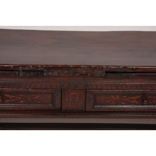 Fine Spanish Baroque Walnut and Inlaid Draw Table Preview