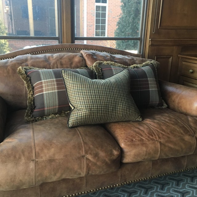 Custom Wool Ralph Lauren Throw Pillows - Set of 3 - Image 2 of 8