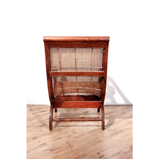 British Colonial British Colonial Plantation Cane Chair For Sale - Image 3 of 8