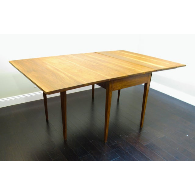 Mid-Century Modern Drop Leaf Dining Table For Sale - Image 3 of 6