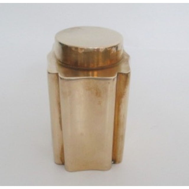 Antique Brass Canister - Image 4 of 9
