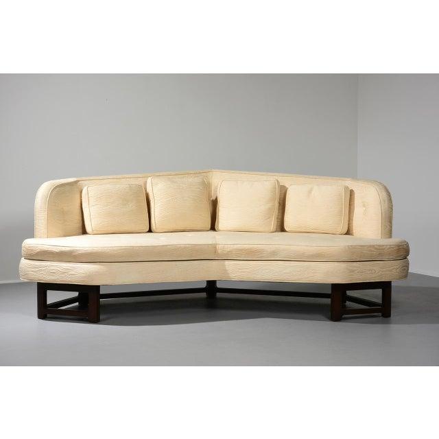 Mahogany Edward Wormley for Dunbar 'Janus' Sofa Model 6329, Circa 1950s For Sale - Image 7 of 11