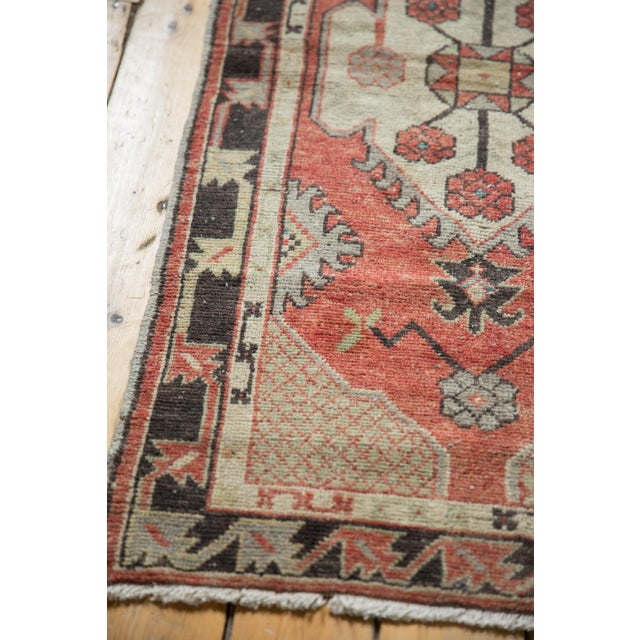 """Old New House Vintage Distressed Oushak Rug Runner - 2'7"""" X 5'4"""" For Sale - Image 4 of 11"""