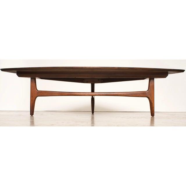 1960s 1960s Mid-Century Modern Erwin Lambeth Walnut Coffee Table For Sale - Image 5 of 10