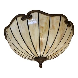 Art Deco Nouveau Slag Chandelier Flush Ceiling Land Light 1 or Pair For Sale