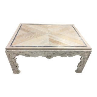 French Country Century Grand Tour Florence Cocktail Table For Sale