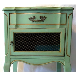 Mid-Century French Provincial Turquoise Nightstands - a Pair Preview