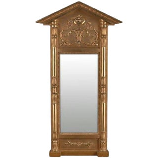 Swedish Empire Gilt Wood Mirror, Early 19th Century For Sale