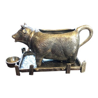 Pewter Cow Creamer - Pierre Deux For Sale
